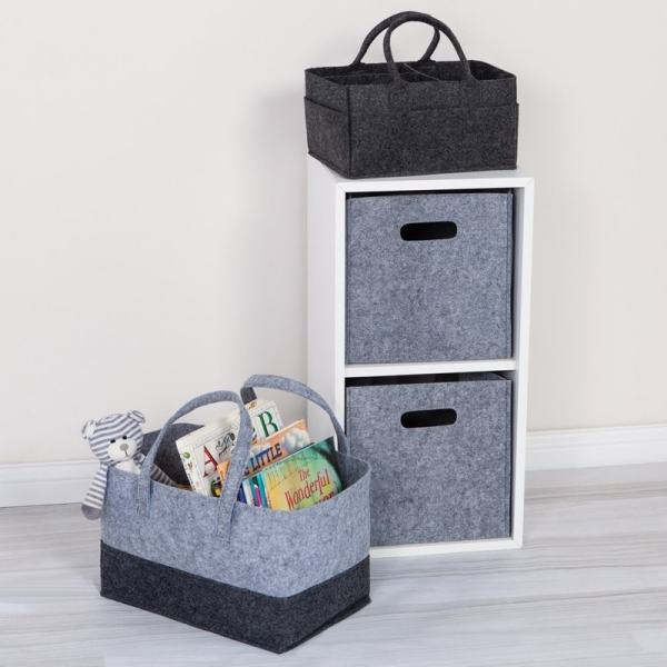 Personalized Storage Collection - 2 Tone Grey