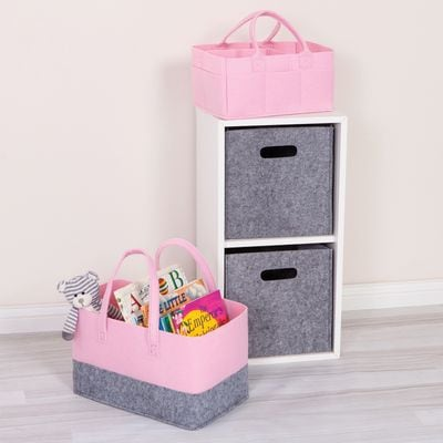 Personalized Tote - Pink & Grey
