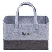Personalized Tote - 2 Tone Grey