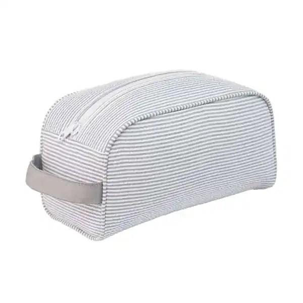 Personalized Traveller Bag -Grey Seersucker
