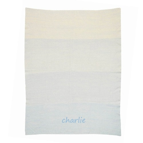 Personalized Baby Blanket - Ombre Blue