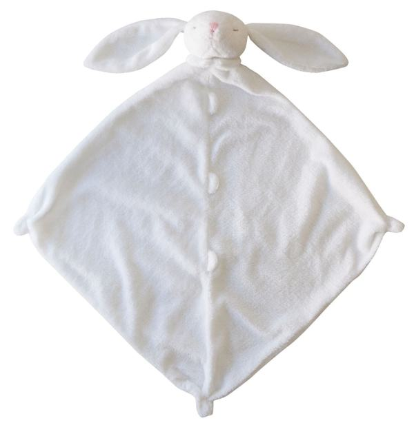 Angel Dear White Bunny Lovie Blankie
