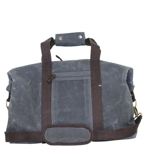 Waxed Canvas Weekender - Slate with Brown Trim