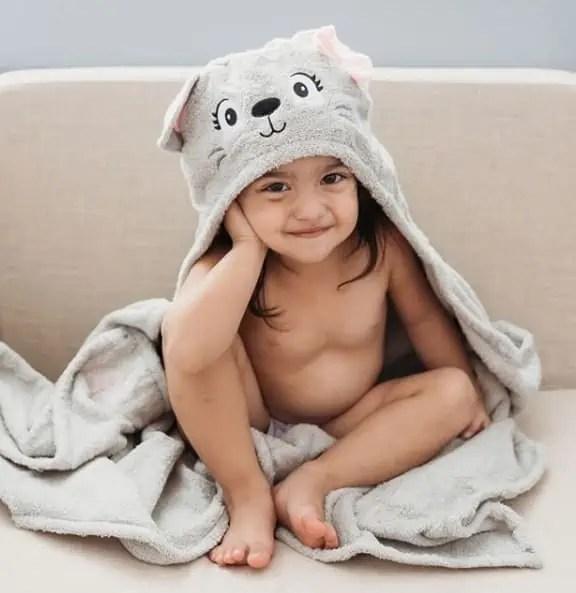 Personalized Kids Towel - Cat