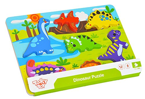 Tooky Toy - Chunky Dinosaur Puzzle