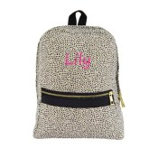Personalized Toddler Bag - Cheetah Seersucker