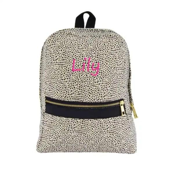 Personalized Toddler Bag - Cheetah Seersucker
