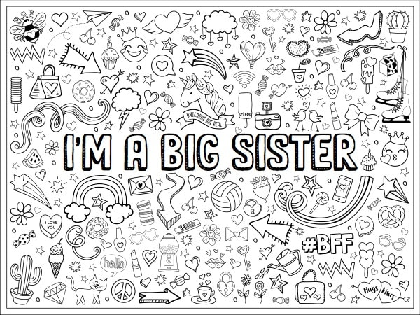 Personalized Colouring Poster - Girl