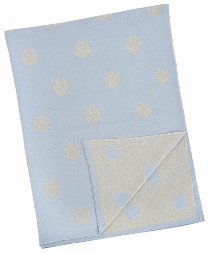 Blue and Silver multi dot blanket