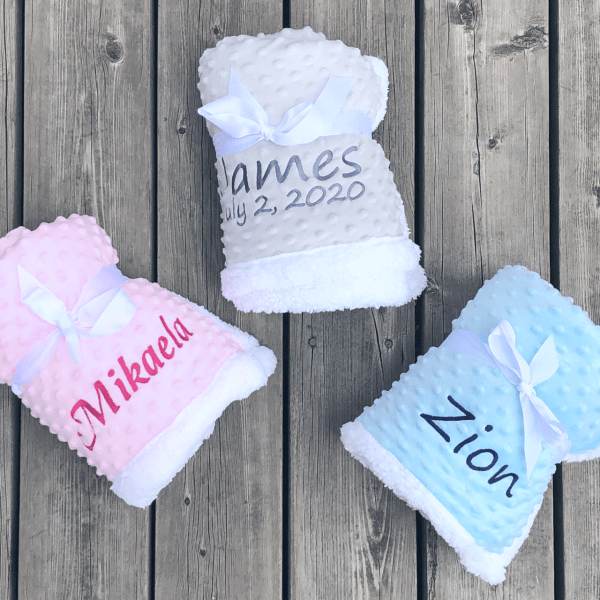 Personalized Sherpa Blanket for Babies