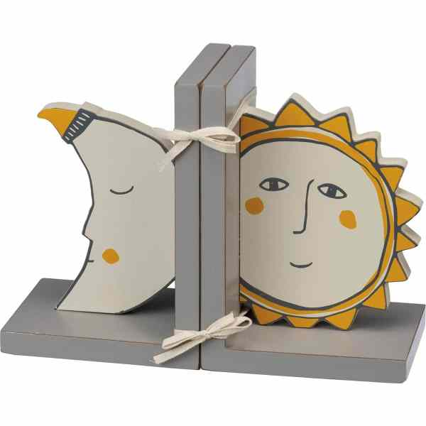 Kids Bookends - Sun and Moon