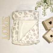 Personalized Baby Blanket - Leopard