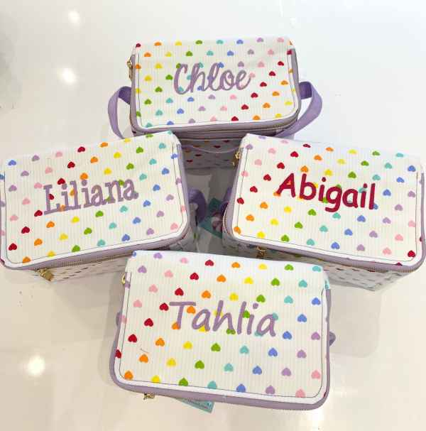 Personalized Lunch Box - Tiny Hearts