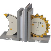 Personalized Kids Bookends - Sun and Moon