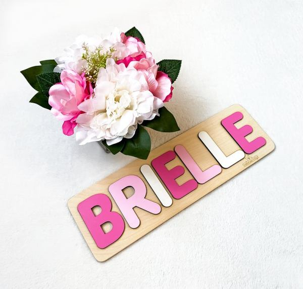 Wooden Name Puzzle - Pinks