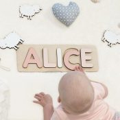 Wooden Name Puzzle - Rose