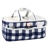 Diaper Caddy - Buffalo Check in Navy and White