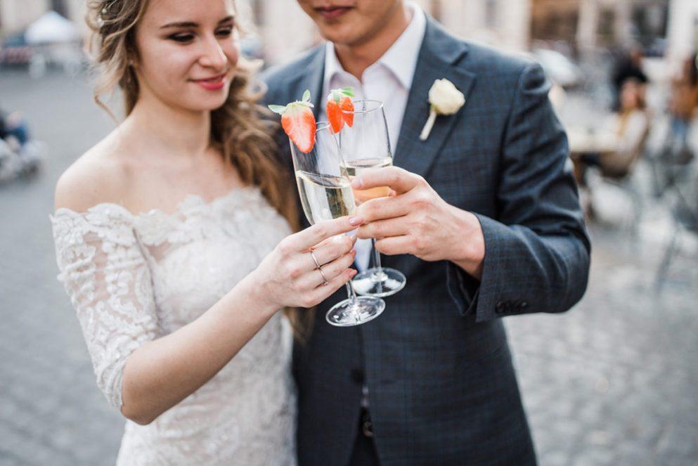 свадебная фотосессия на улицах рима