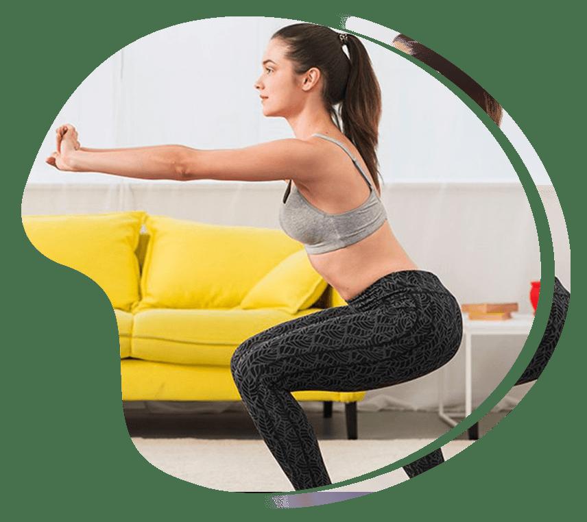 At home Tabata workout squat