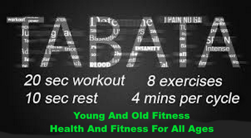 Tabata workout at home poster