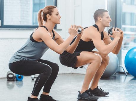 Tabata workout squat