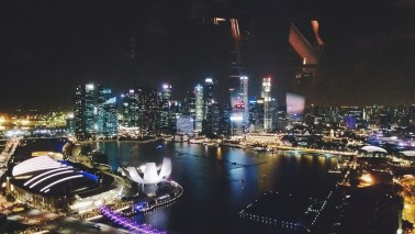The View of the City from the Singapore Flyer