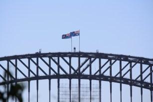 The Australian Flag on the Sydney Harbour Bridge