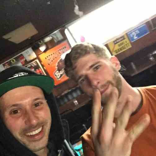 """Shooting pool and drinking whisky wif my fav cross country cyclist homeboy! """"Take everything that you've learned in your life all your regrets and rides and put them into one drink, mix it up and let it sink, carry on with yourself"""" -@sir_robinesto #Transam2016 #Biketouring #Bicycletour #CycleTouring #AdventureByBike #RideYourBike #GetOutAndRide #worldbybike #BikeTour #bikenation #bikewander #bikesofinstagram #Bikepacking #AdventureCycling #DudeRobot #acatransam #trek520"""