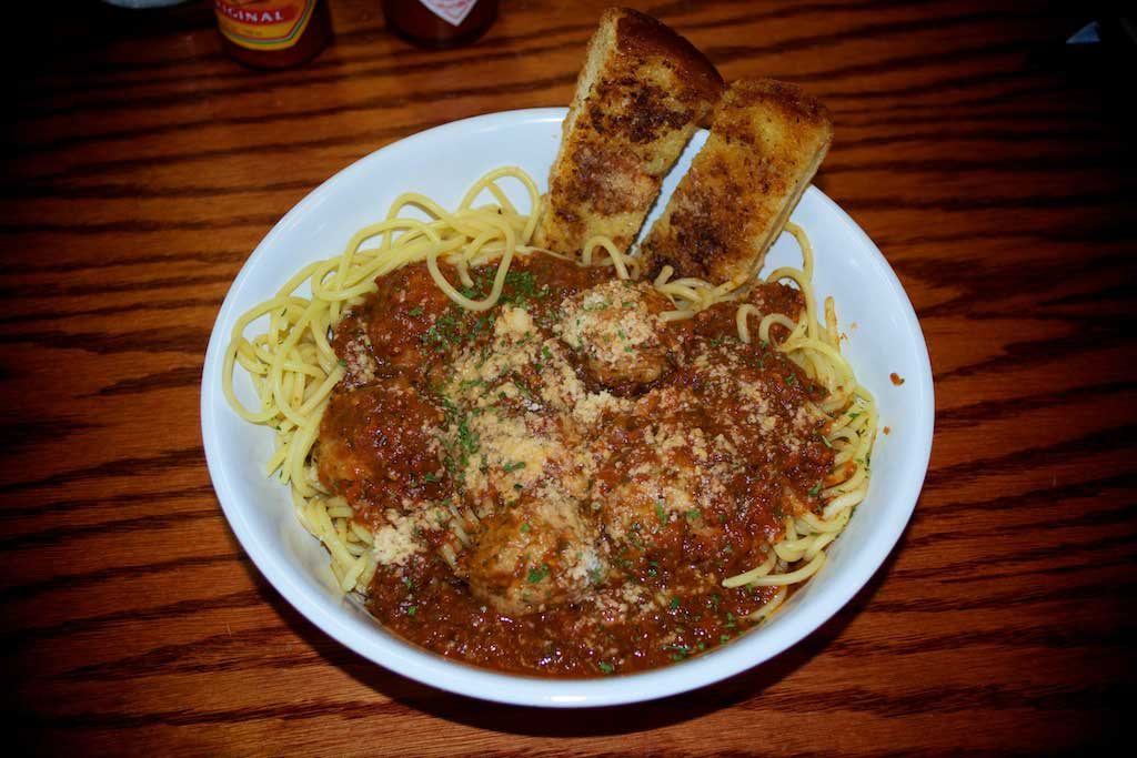 Youngblood's Cafe Texas Cookin' - Spaghetti and Meatballs