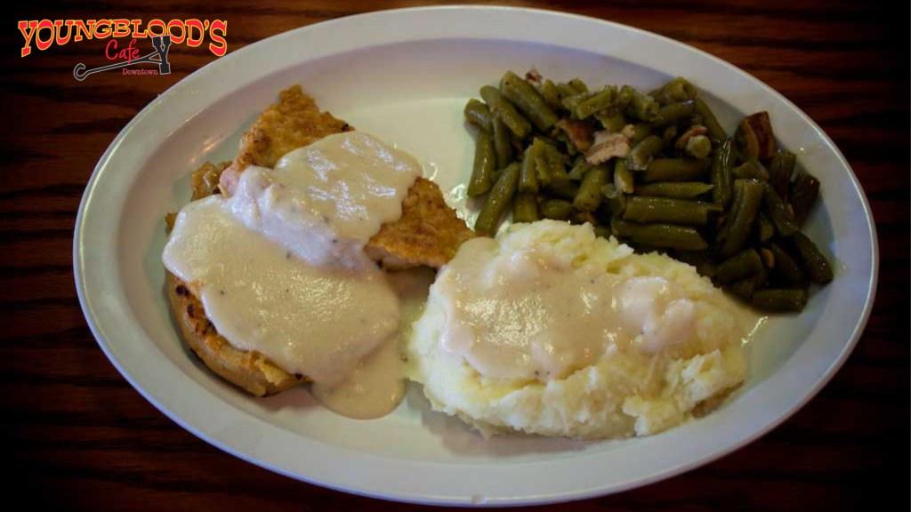Boneless Pork Chops - Youngblood's Cafe - Amarillo, Texas