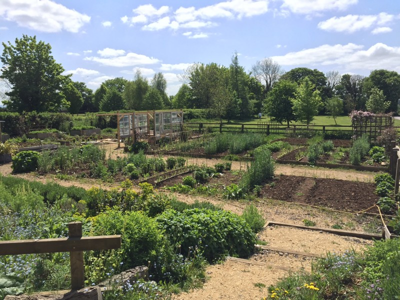 The Not So Secret Garden at Hartley Farm, where many workshops take place