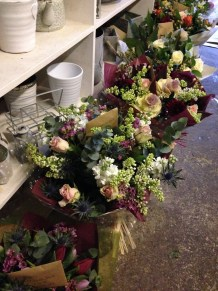Gift bouquets in the shop