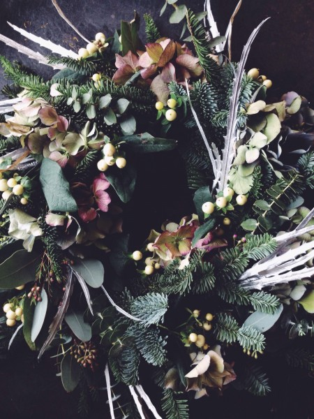 Christmas wreath workshop, wiltshire