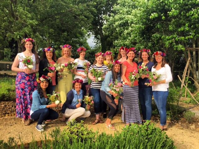 Flower crown workshop, Bradford on Avon