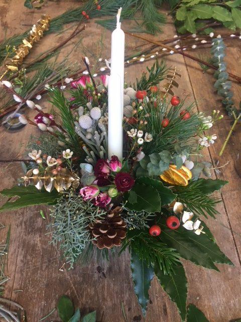 Bath, Christmas flowers