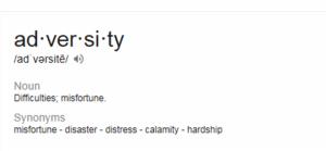 define adversity