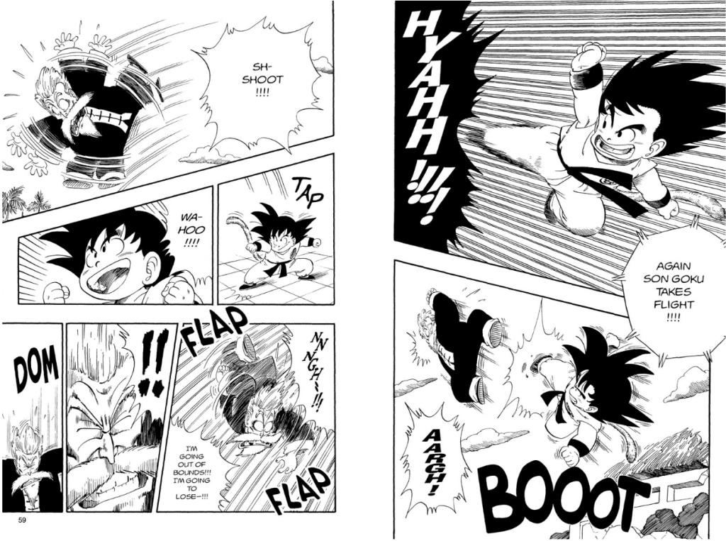 Goku vs Jackie Chun from Dragonball