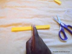 Cut strips in half