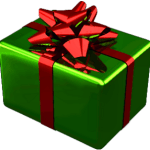 a picture of a Christmas gift