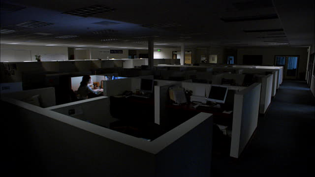 picture of a dark office