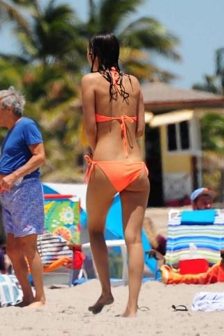 Victoria-Justice-in-Orange-Bikini-2016--06-662x993