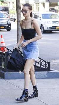 Bella-Hadid-in-Jeans-Mini-Skirt--08