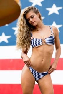Swimsuit 2017: Summer of Swim Behind the Scenes Nina Agdal Coney Island, NY, USA 06/17/2016 SWIM-117 TK2 Credit: Taylor Ballantyne