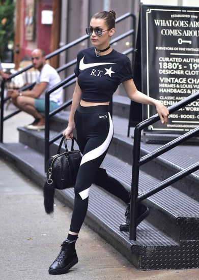 NEW YORK, NY - JULY 13: Bella Hadid is seen in Soho on July 13, 2016 in New York City. (Photo by Alo Ceballos/GC Images)