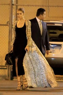 November 9, 2016: Gigi Hadid Leaving Jimmy Kimmel Live! Mandatory Credit: NEAT/INFphoto.com Ref.: infusla-318 Editorial Rights Managed Image - Please contact www.INSTARimages.com for licensing fee email sales@instarimages.com - Image or video may not be published in any way that is or might be deemed defamatory, libelous, pornographic, or obscene / Please consult our sales department for any clarification or question you may have - http://www.INSTARimages.com reserves the right to pursue unauthorized users of this image or video. If you are in violation of our intellectual property you may be liable for actual damages, loss of income, and profits you derive from the use of this image or video, and where appropriate, the cost of collection and/or statutory damage.