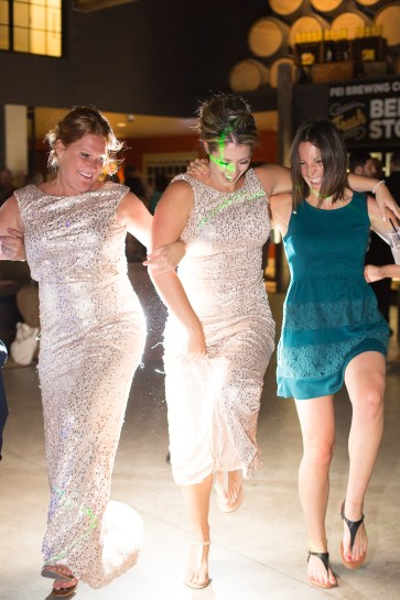 Dancing at bff's wedding