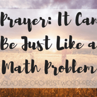 Prayer: It Can Be Just Like a Math Problem.