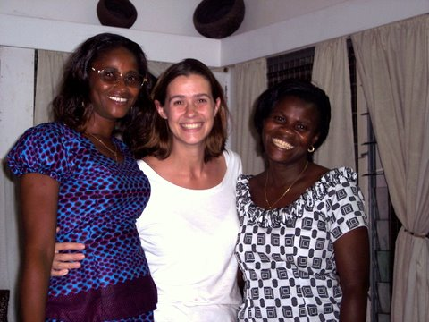 Naomi Awuni, Carrie Zook and Esther Annobil