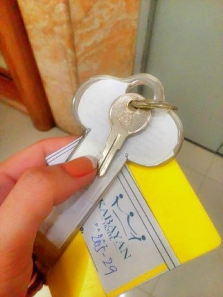 Keys to my room and personal locker