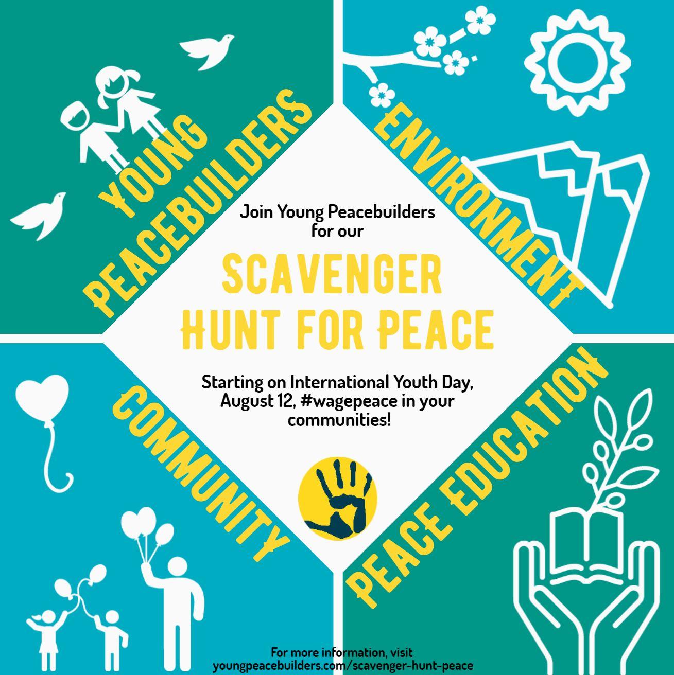 Scavenger Hunt List >> Scavenger Hunt for Peace - Young Peacebuilders
